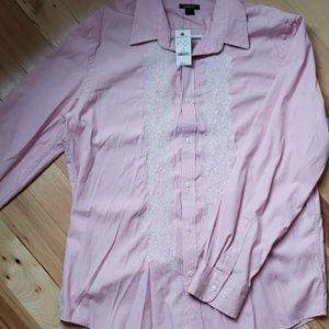 Mens embroidered dress shirt
